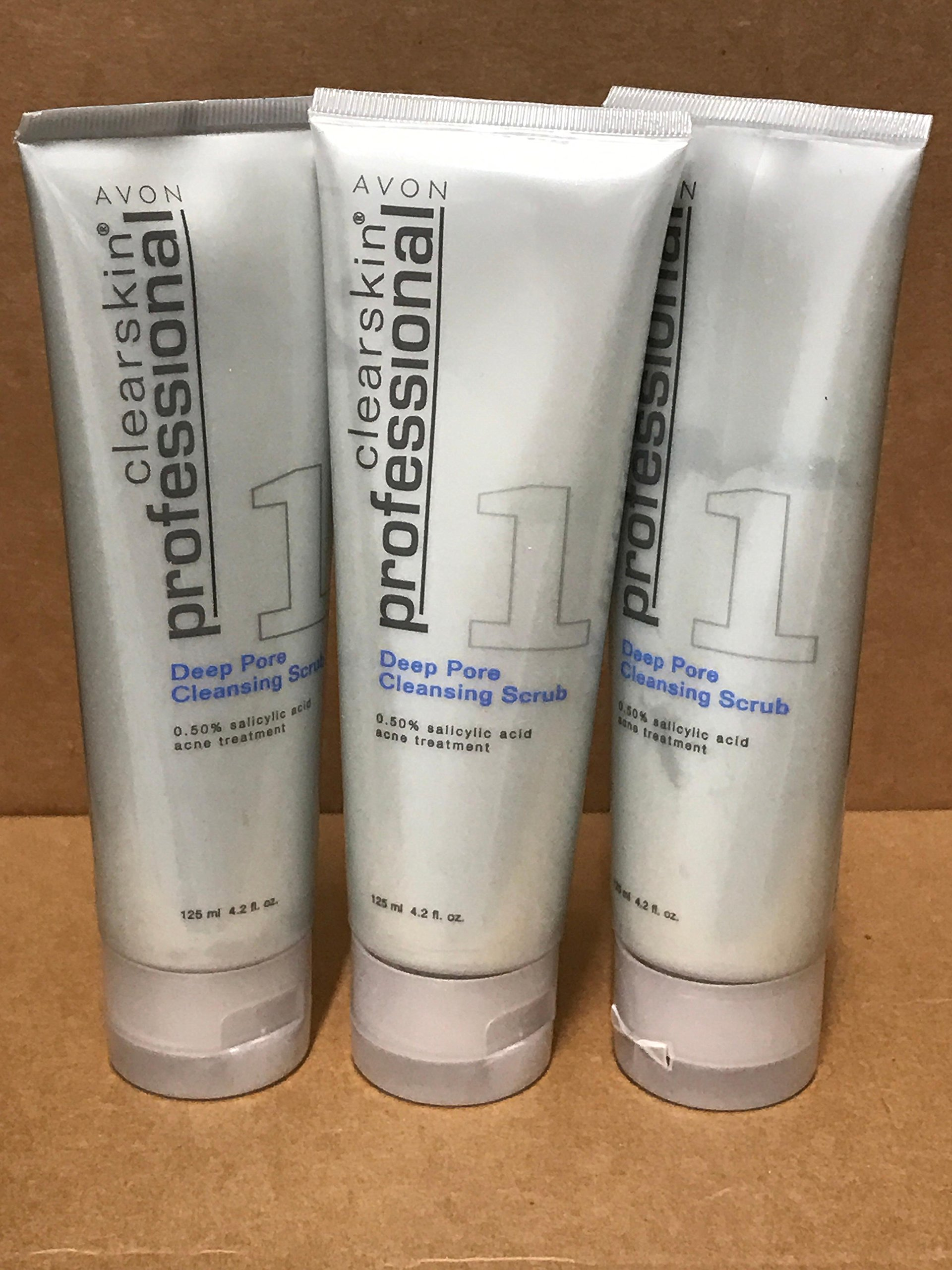 Avon Clearskin Professional Deep Pore Cleansing Scrub Lot 3 tubs