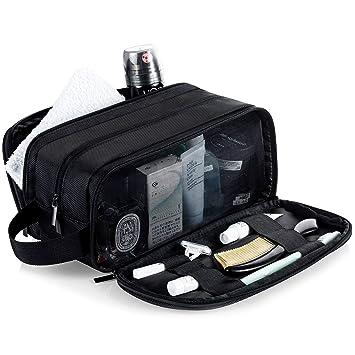325d948ef056 Lizzton Mens Toiletry Bag for Travel Large Dopp Kit Waterproof Women  Shaving Bag Portable...