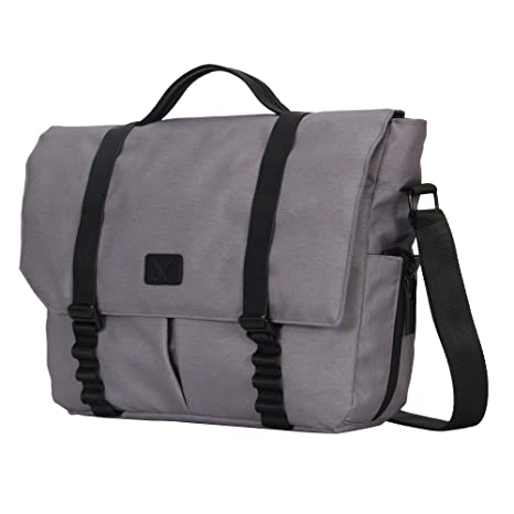 d6623c59e898 Image Unavailable. Image not available for. Color  Hynes Eagle Explorer  Laptop Messenger Bags for 14 inch Grey