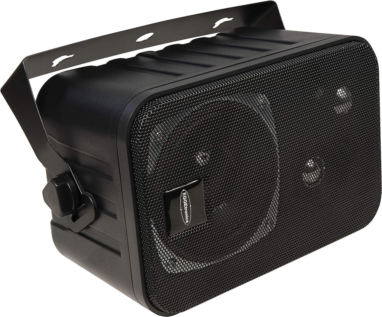 3-Way Speakers with Bracket Black Pair