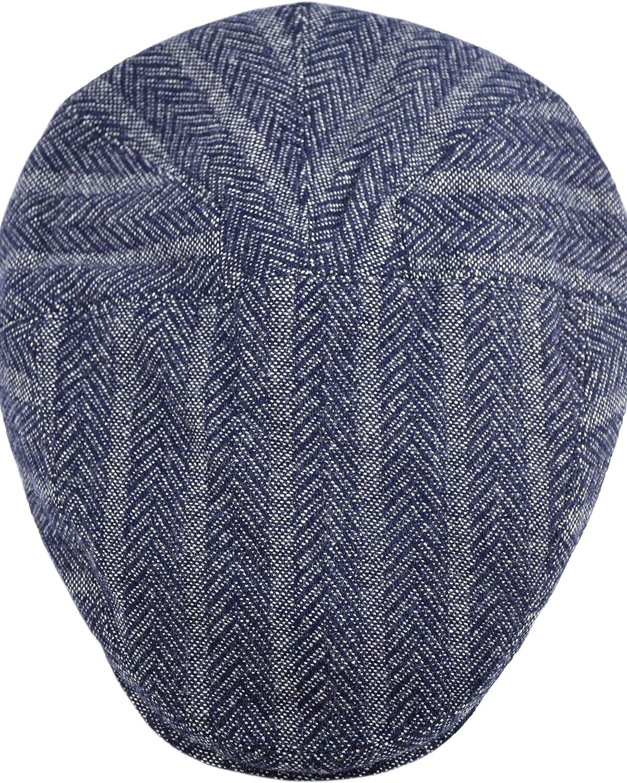 Premium Mens Wool Newsboy Cap SnapBrim Thick Winter Ivy Flat Stylish Hat