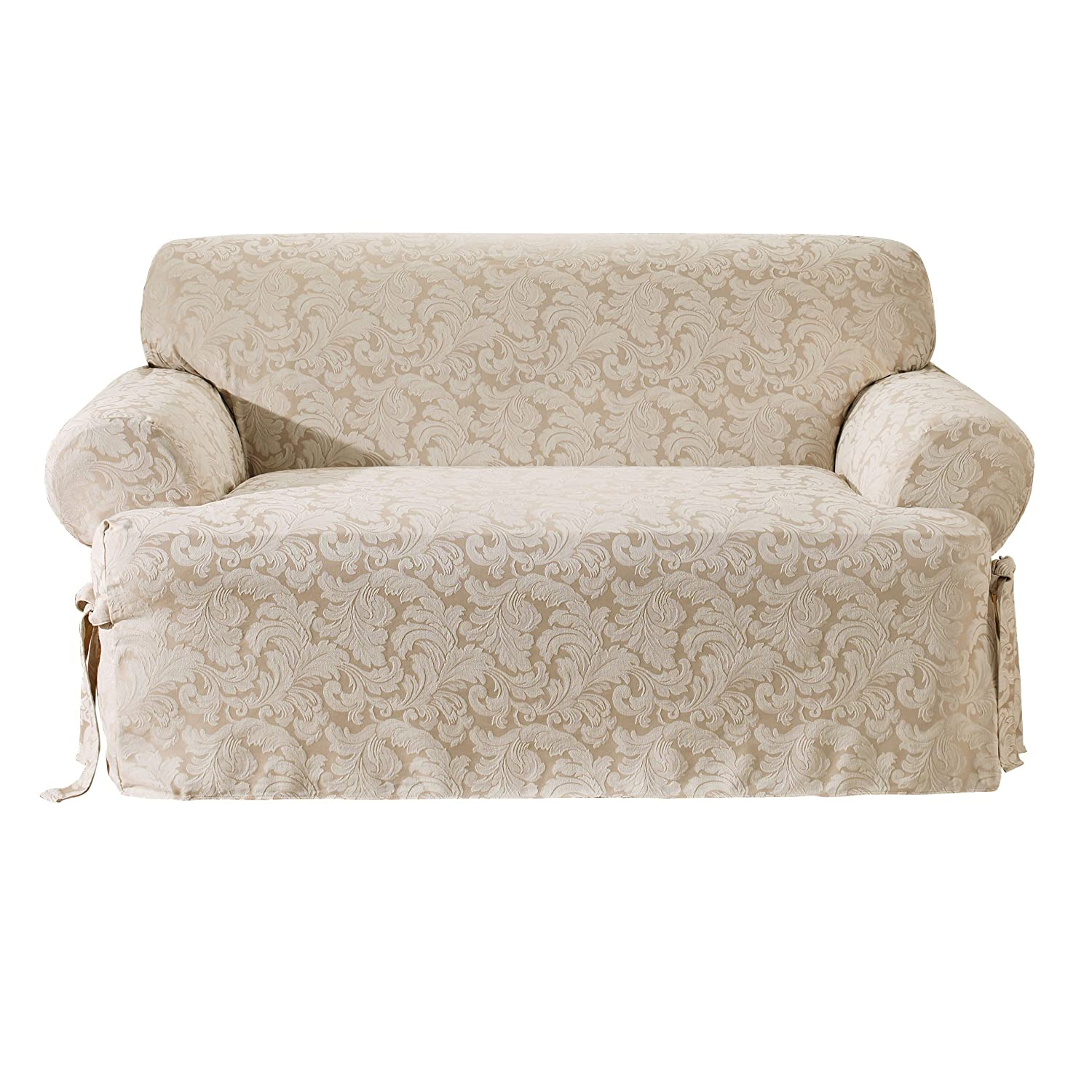 Amazon Sure Fit Scroll T Cushion Sofa Slipcover Champagne