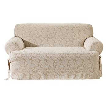 Amazoncom Sure Fit Scroll TCushion Sofa Slipcover Champagne