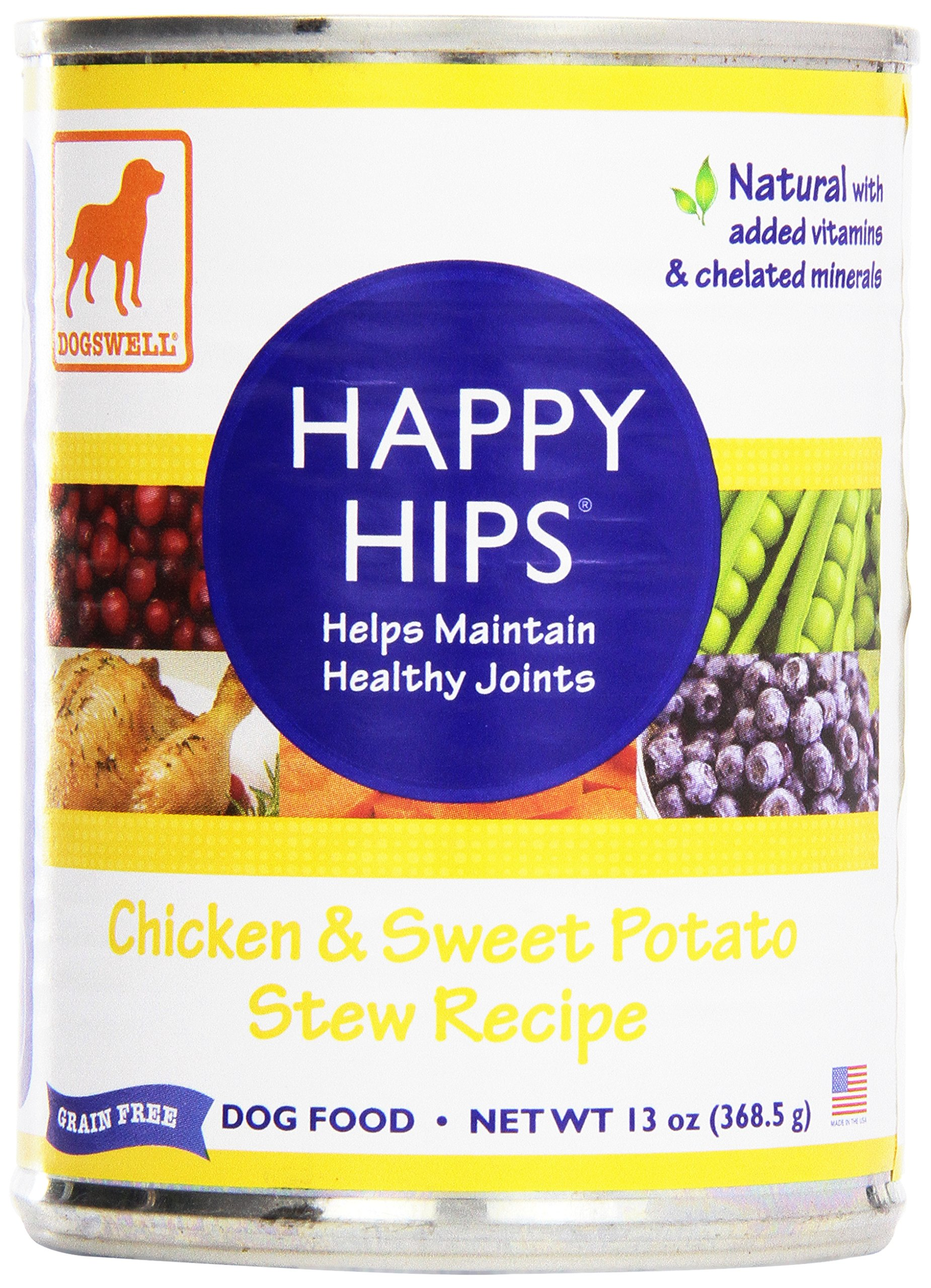 Dogswell, Happy Hips, Canned Food, Chicken & Sweet Potato, 13 oz by Dogswell