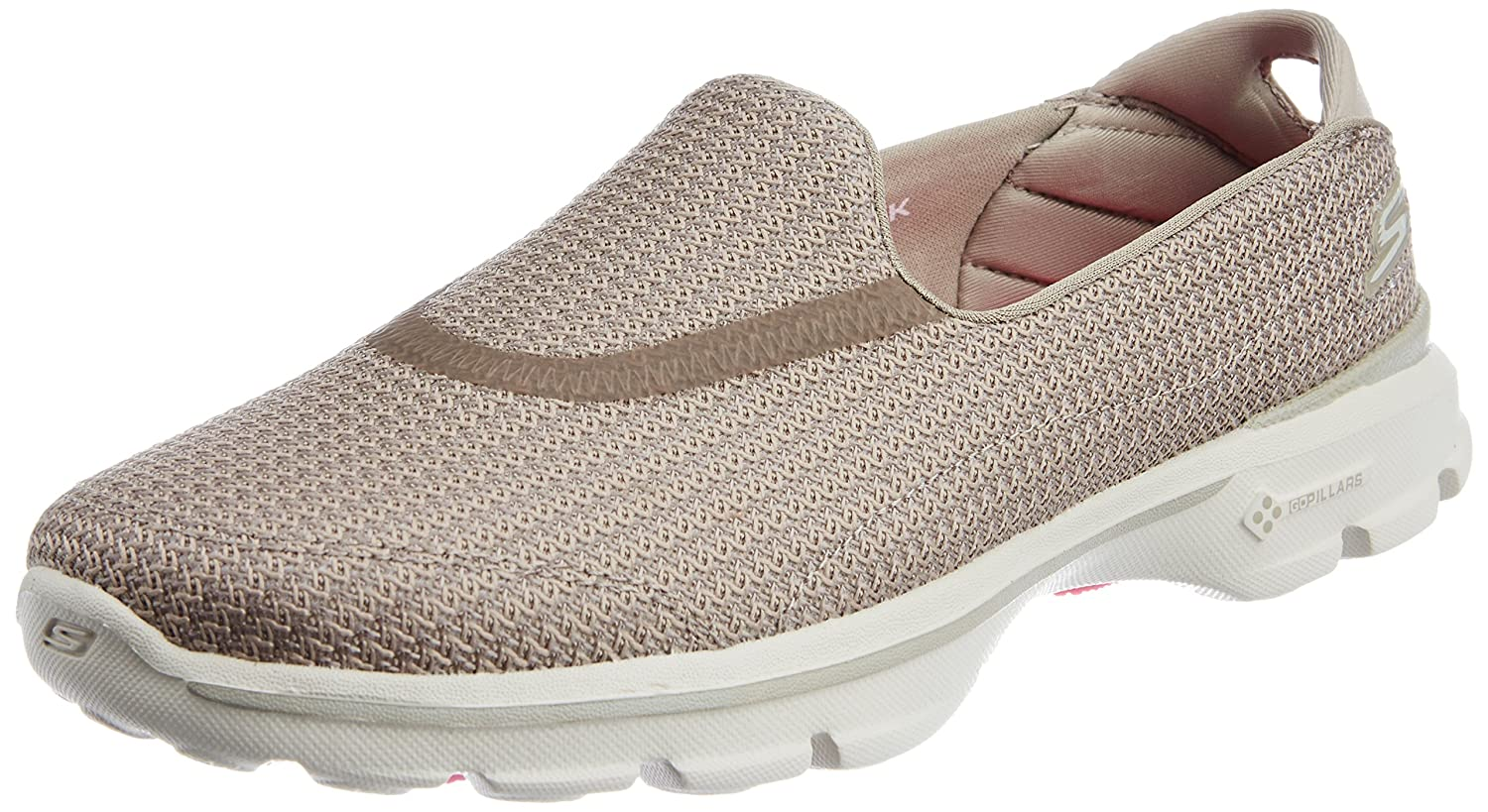 14f959100dcb Skechers Women s Go Walk 3 Stone Mesh Walking Shoes - 3 UK India (36 EU) (6  US)  Amazon.in  Shoes   Handbags