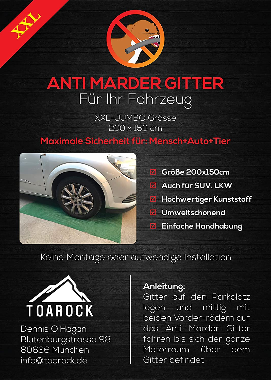 Toarock Xxl Mardergitter 200 X 150cm Für Alle Fahrzeuge Auto