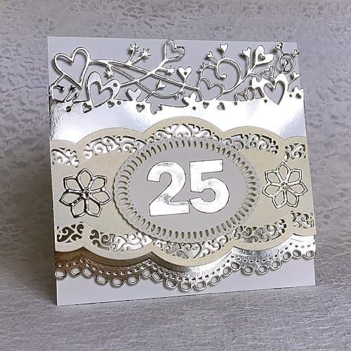 amazon com handmade 25th anniversary card anniversary gift