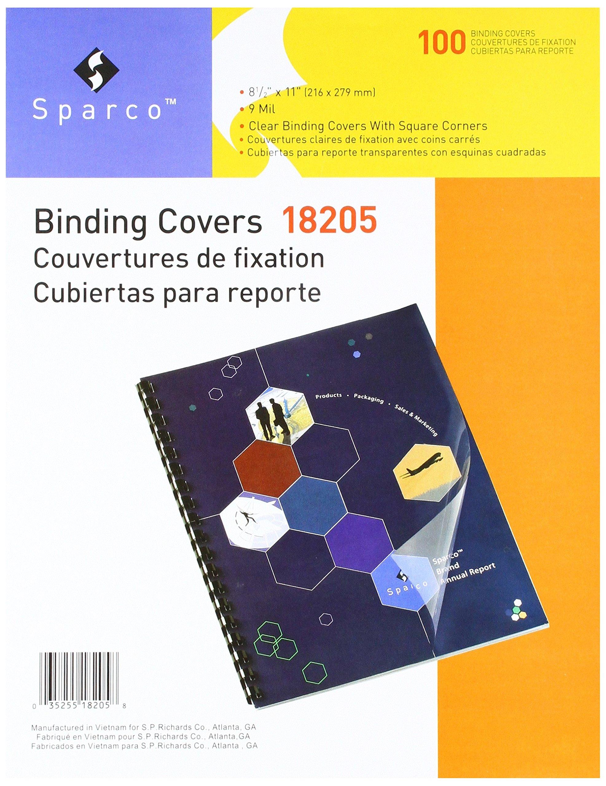 Sparco Presentation Cvr, Square,Plain.05mil, 11 x 8-1/2 Inches, 100/Box, CL