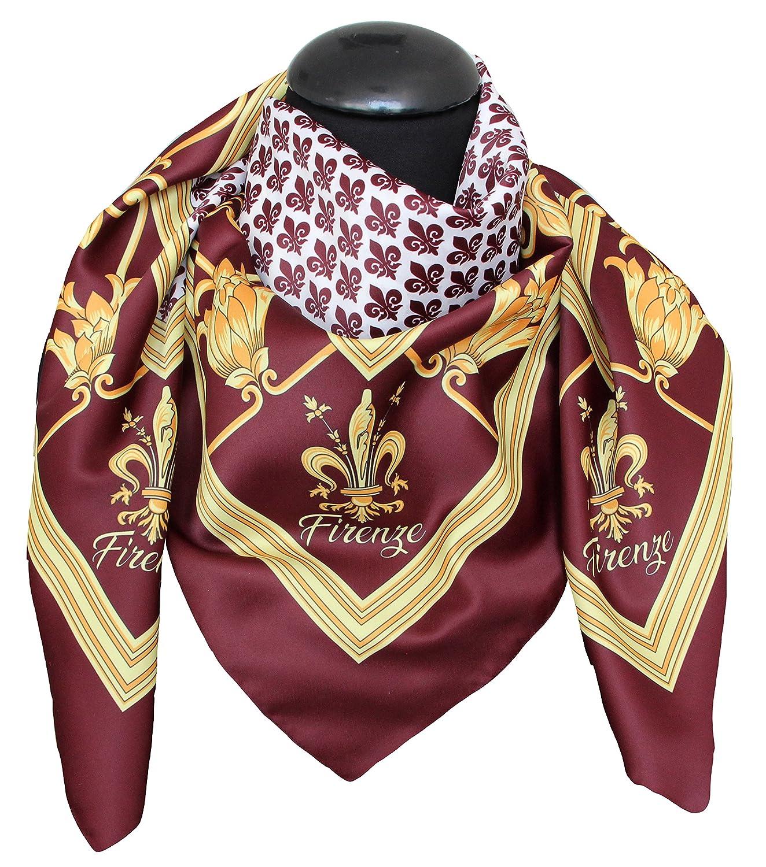 tessago dis 62815 var 3 firenze digitale made in italy misura cm 90 x 90 foulard dis 62815 var 3
