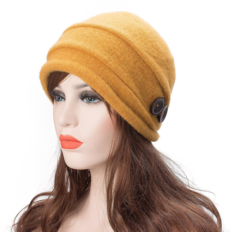 Lawliet T178 Damen Winterm/ütze aus 100/% Wolle knitterartig
