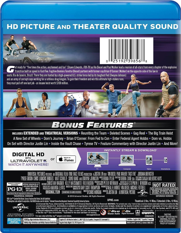 Amazon com: Fast Five [Blu-ray]: Vin Diesel, Paul Walker, Dwayne