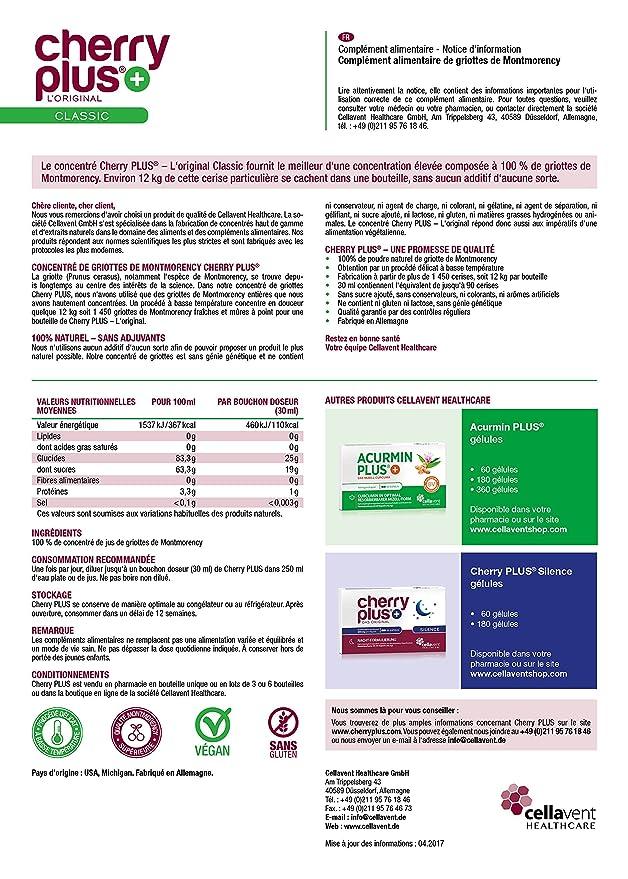 Cellavent Healthcare Cherry PLUS - El Original: Concentrado ...