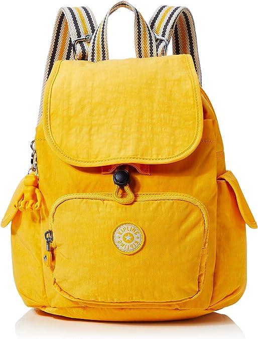 KiplingCity Pack MiniMujerMochilasAmarillo (Vivid Yellow)27x29x14 Centimeters (B x H x T): Amazon.es: Zapatos y complementos