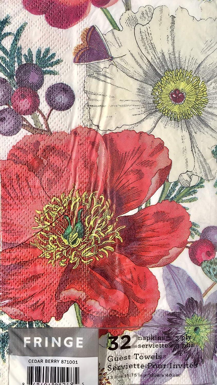 32 pcs Fringe Cedar Berry Guest Towels Hostess Buffet Paper Napkins 871001