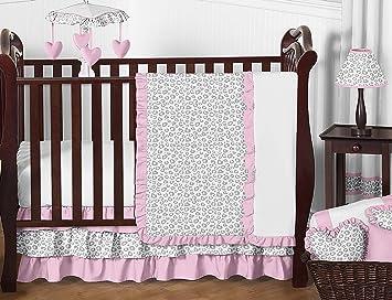 Amazon.com: Sweet Jojo Designs 11 piezas Rosa y gris Kenia ...
