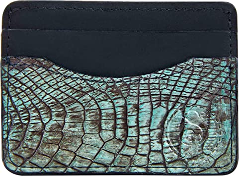 Genuine Alligator Skin Wallet For Men RFID Blocking 100-Year Warranty