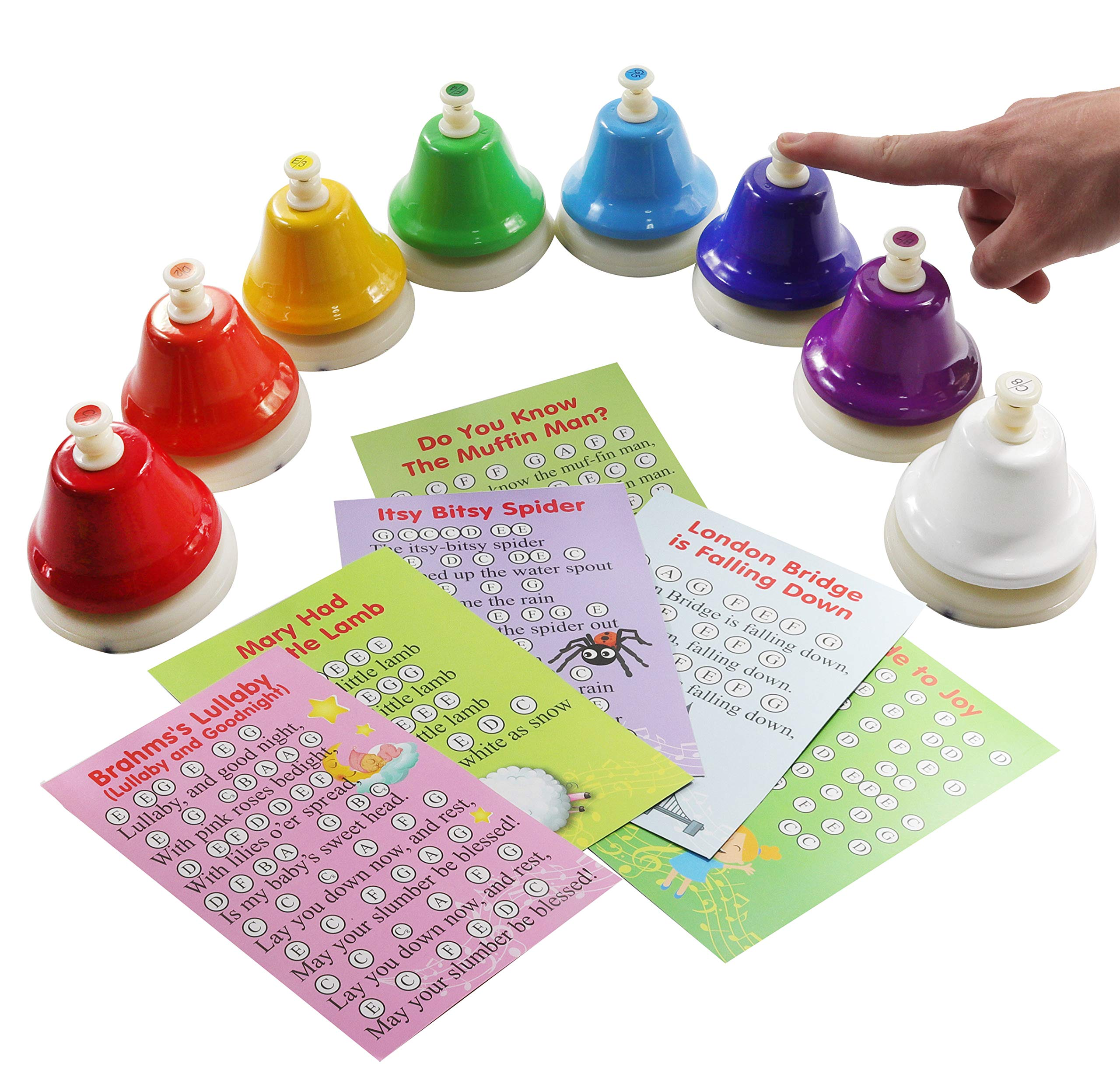 8-note Color Desk Bell Set