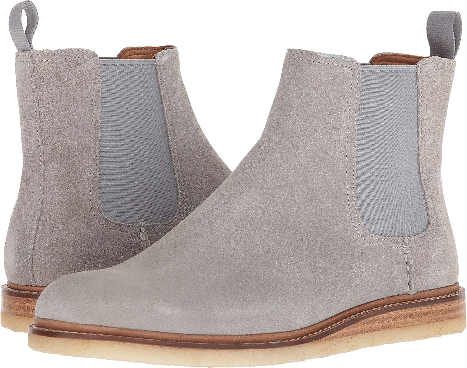 Gold Cup Suede Chelsea Boots Gray