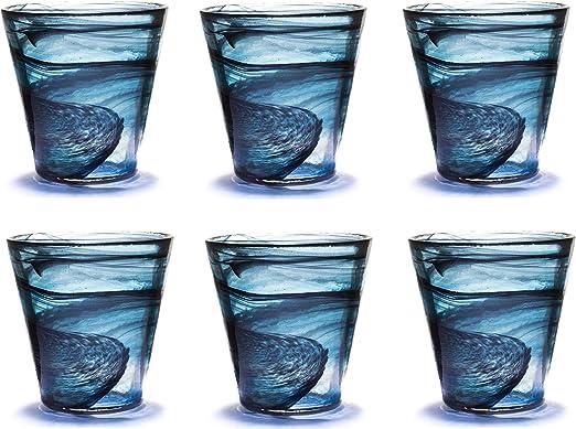 Vasos de Colores de Cristal, Vasos de Agua, Vasos de Colores para ...