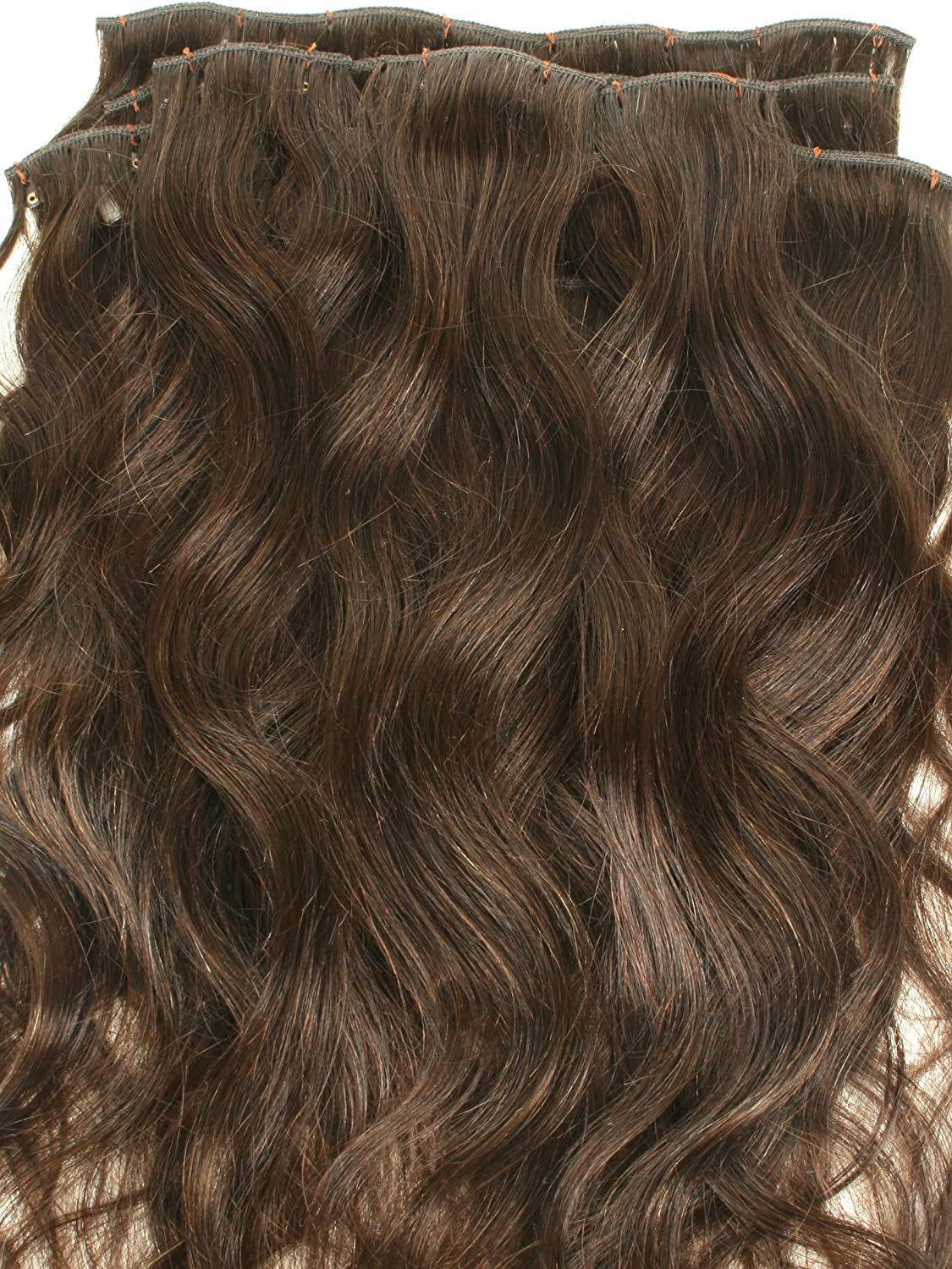 Amazon 22 Inches Full Head Set Clip In Indian Wavy Human Hair