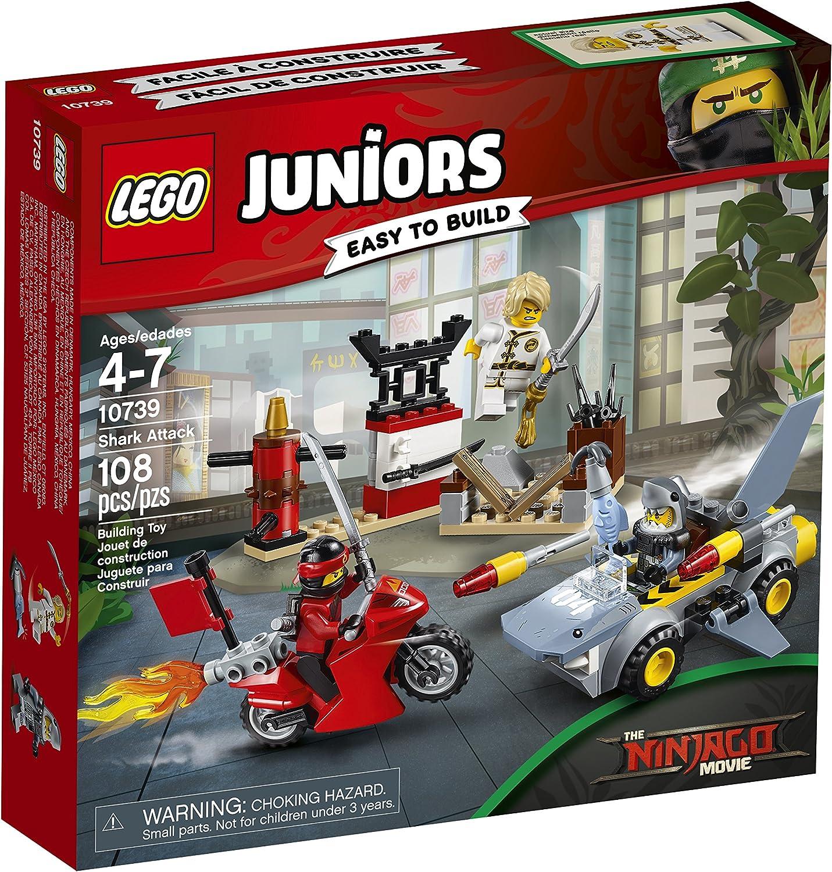 Lego Juniors The Ninjago Movie 10739 Attack GREAT WHITE minifigure w// SHARK CAR!