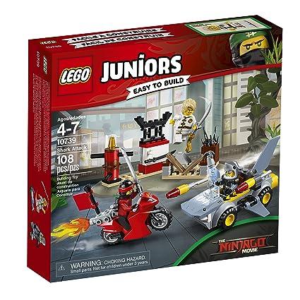 Amazon.com: LEGO Juniors Shark Attack 10739 Building Kit (108 Piece ...