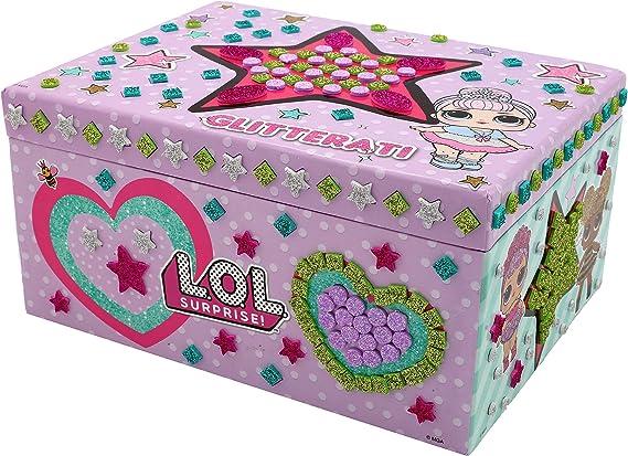 L.O.L. Surprise! Joyero para Niña con Pieza Mosaico Glitterati Queen Bee Confetti Pop Actividad Creativa Niñas: Amazon.es: Juguetes y juegos