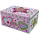Porta Gioie per Bambina Scatola Bambole LOL attività Creativa per Bambine Confetti Pop Serie Glitterati Lil Sisters Queen Bee