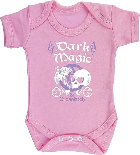 HippoWarehouse Dark Magic & Cross Stitch Witch Pastel Goth Chaleco para bebés Pijama de Manga Corta para niños Unisex: Amazon.es: Ropa y accesorios