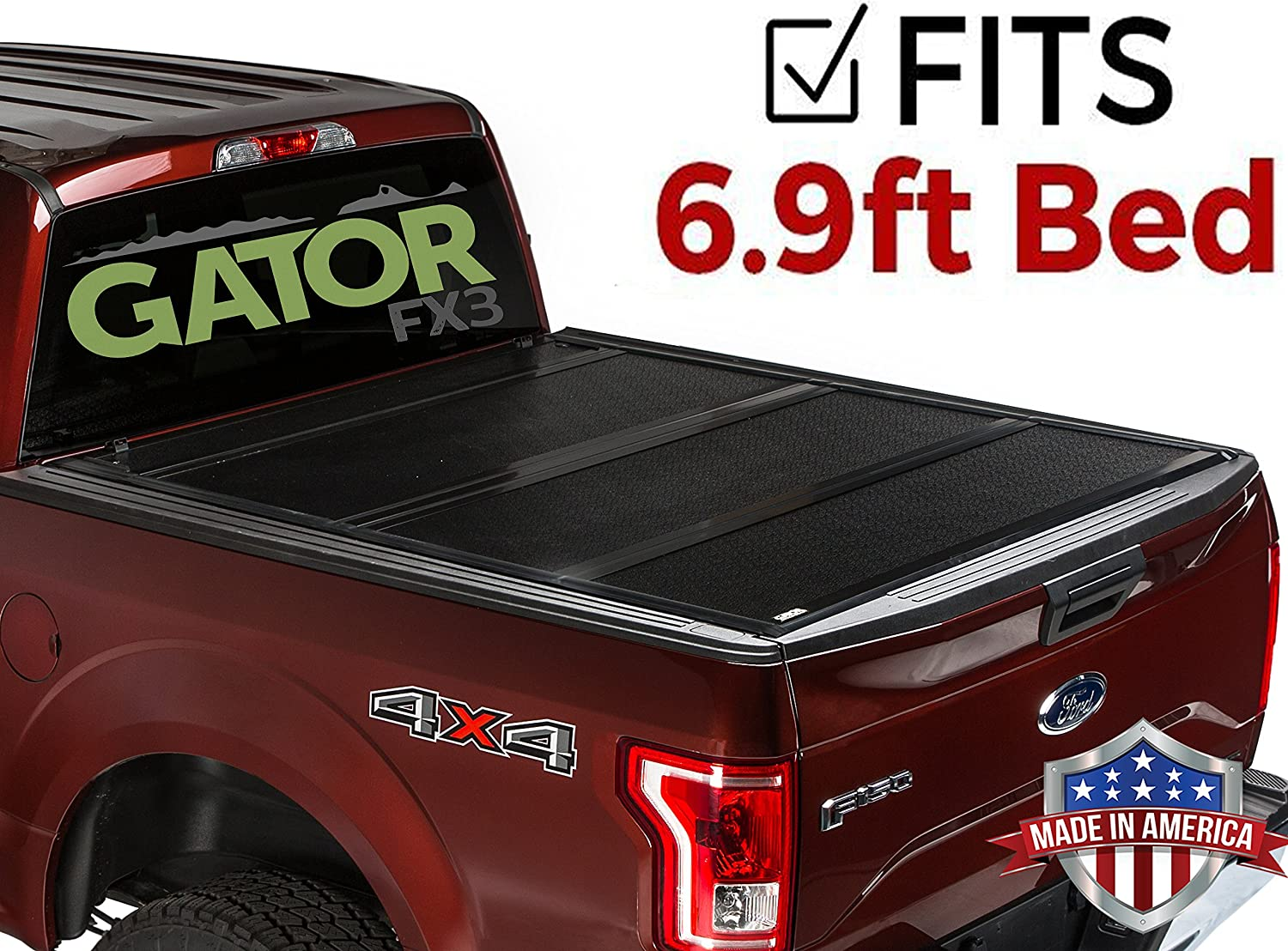 Gator FX3 Hard Folding 6.9 Foot Tonneau Truck Bed Cover