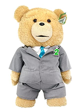 Ted 2 Movie-Size Plush Talking Teddy Bear Explicit Doll in Suit, 24""