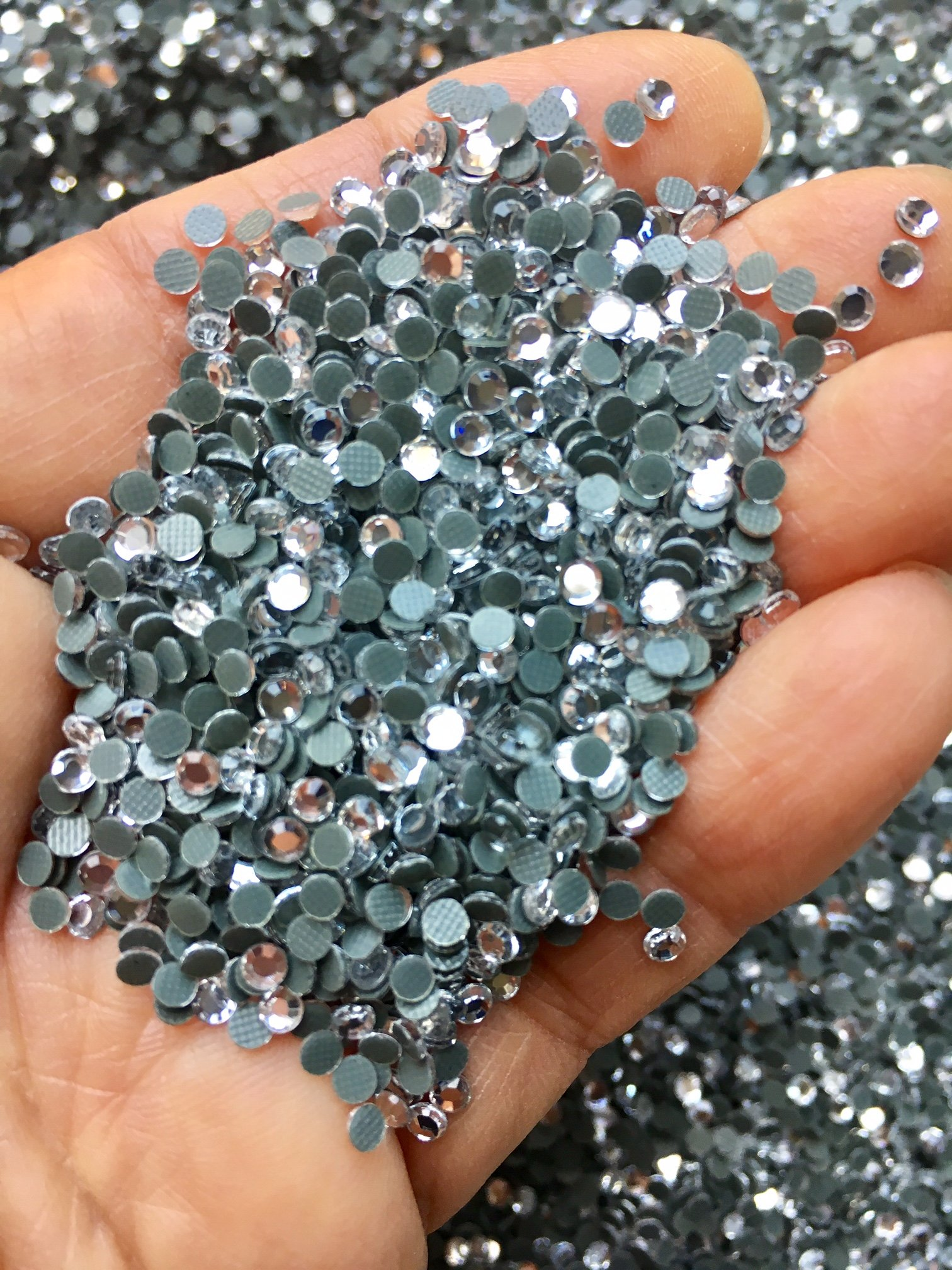 ROCOCO DESIGNS Full Bag of 72,000PCS!! Iron On Loose Crystal Sparkly Rhinestone 3mm 10ss CLEAR Loose Hot Fix Great For Iron On Crafts by Rococo Designs