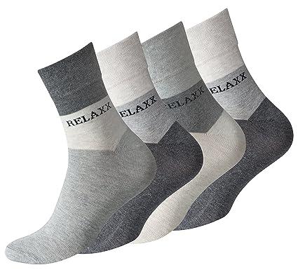 im Angebot cf4ad 49d63 VCA 8 Paar Herren Kurzsocken RELAXX Quarter Socks ohne Gummibund  (grau-beigé-meliert)