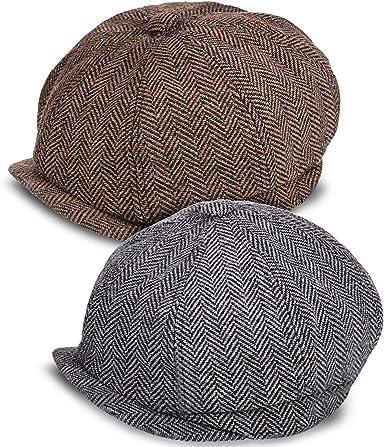 2 Piezas Gorras de Vendedor de Periódicos de Hombres Boina Vintage ...