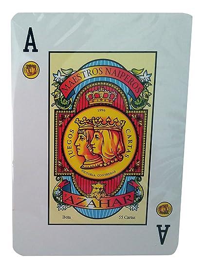 Maestros Naiperos baraja Poker, española, 55, Cartas ...