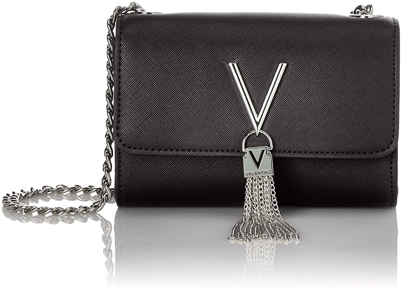 08d292cc33868 Mario Valentino Women VBS1IJ03 bag Black Size  UK One Size  Amazon ...
