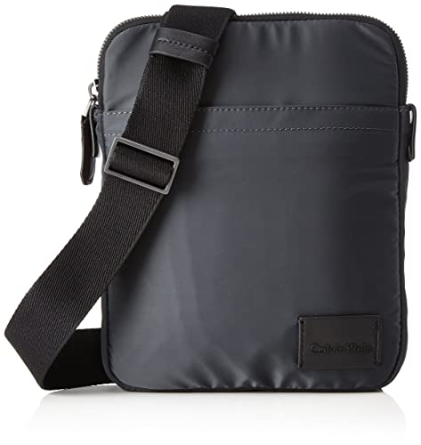 Calvin Klein - Ease Flat Crossover, Shoppers y bolsos de hombro Hombre, Azul (