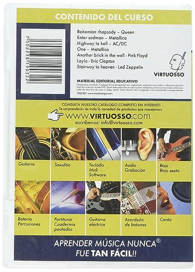 Amazon.com: Virtuosso Electric Guitar Riffs Vol.1 (Curso De Solos Fantásticos En La Guitarra Eléctrica Vol.1) SPANISH ONLY: Musical Instruments