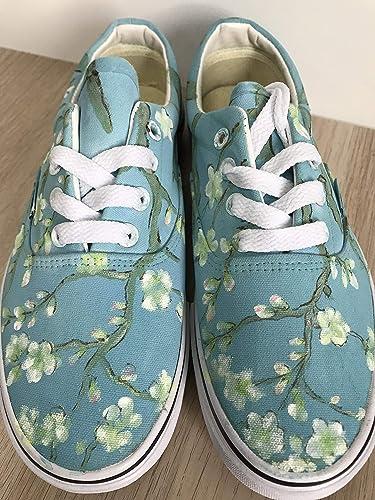 13dfb268447c Vans Vincent Van Gogh Blossoming Almond Tree Vans Authentic Custom Shoes  Vans Authentic Custom Hand Painted Shoes Hand Painted Vans Authentic Custom  Vans ...