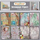 CrafTreat Decoupage Paper for Crafts and Furniture - Vintage Window and Gate - Size: A4-8 Pcs - Furniture Decoupage Paper wit