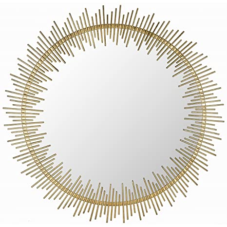Safavieh Home Collection Sunray Circle Mirror, Antique Gold by Safavieh