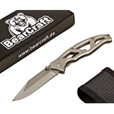 BearCraft Folding Knife | Outdoor Survival Pocket Knife with Stainless Steel Handle