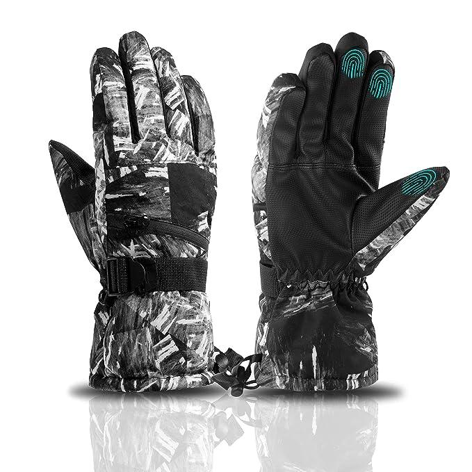 Guantes Motor Invierno Impermeable Pantalla T/áctil Guantes Protectores De Moto Dedo Completo para Invierno Al Aire Libre