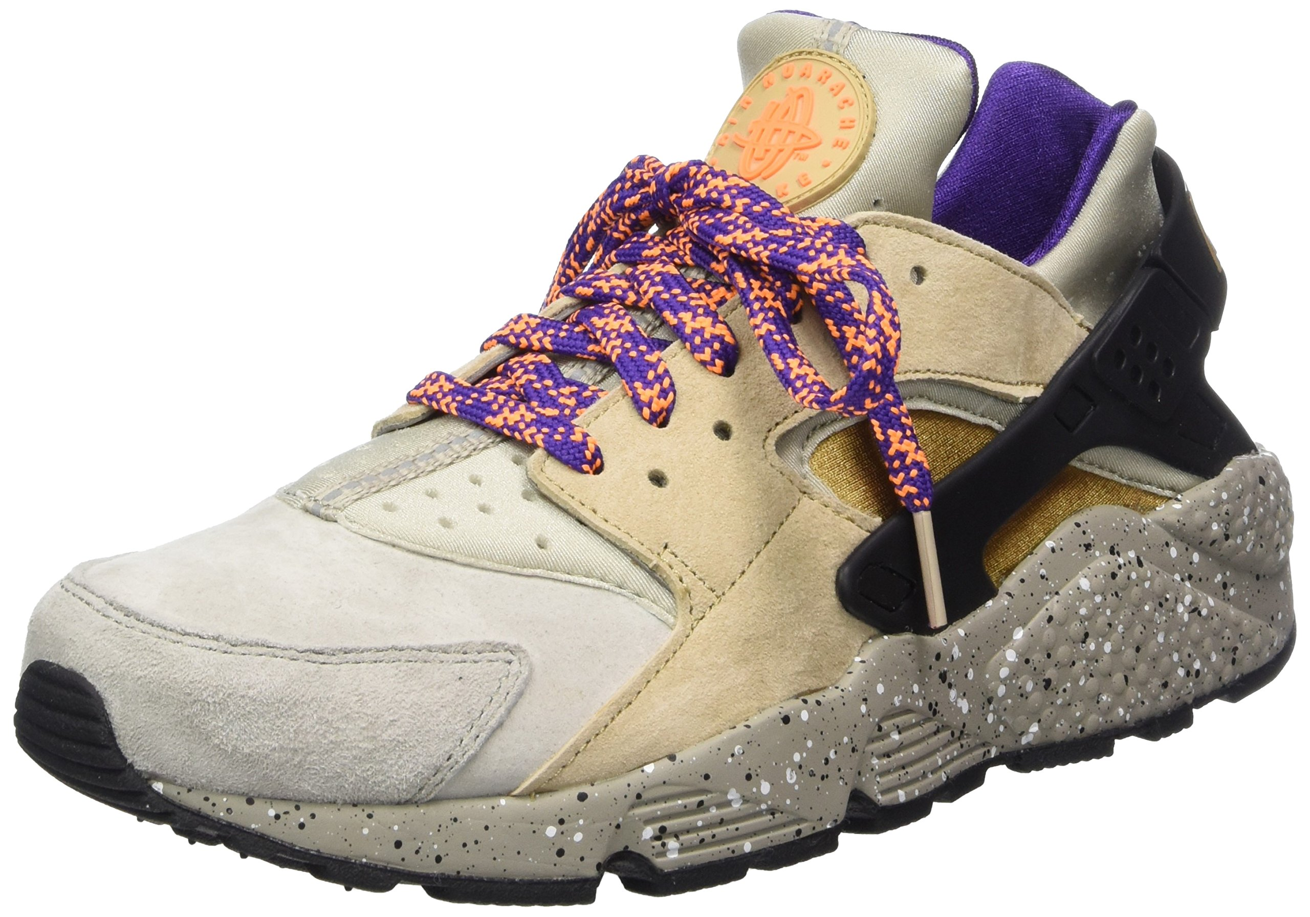 306cb56e8d Galleon - Nike Men's Air Huarache Run PRM Gymnastics Shoes, Multicolour  (Linen/Golden Beige-Black-Court Purple 200), 11 UK