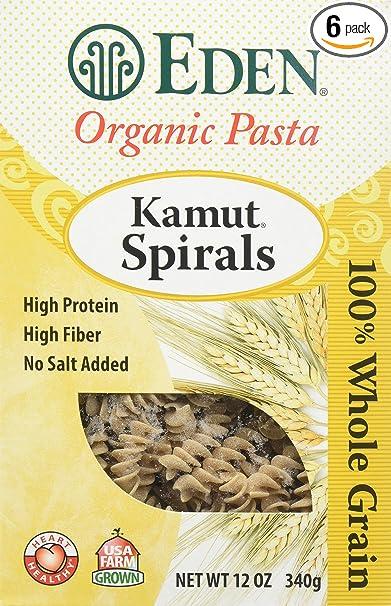 Espirales Eden Kamut, orgánicos, 100 % grano completo, 30,4 ...