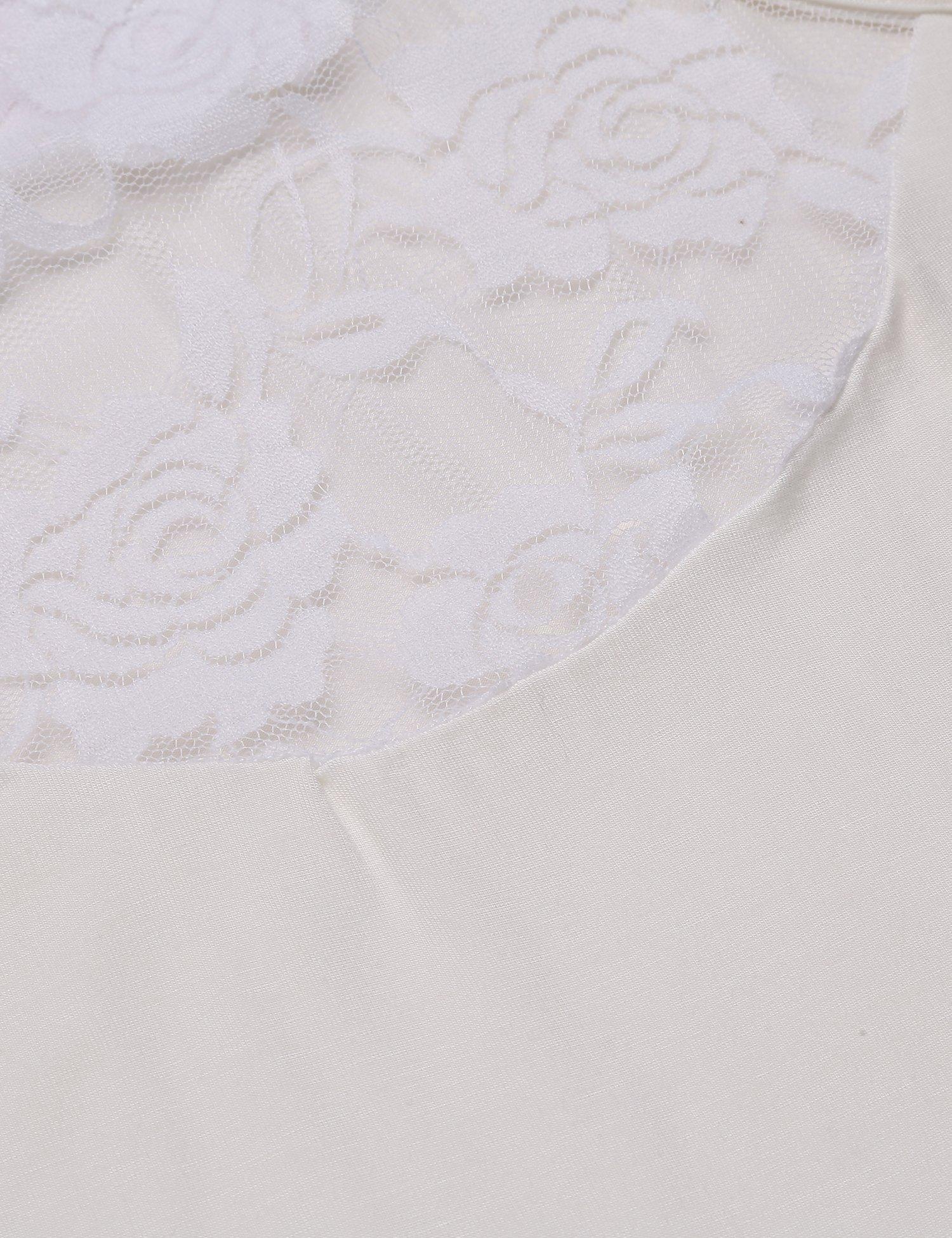 Mofavor Women's Sleeveless Crochet Lace Camisole Vest Halter Racerback Tank Top,White,Large by Mofavor (Image #6)