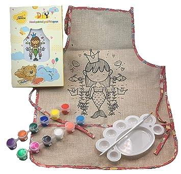 Brand New Choose Size Childrens Pink Kids Tabard Apron Kids Cooking Arts Craft