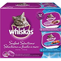Whiskas Food Trays for Cats - Variety Whitefish - Salmon - Tuna - 100g (12 Pack)