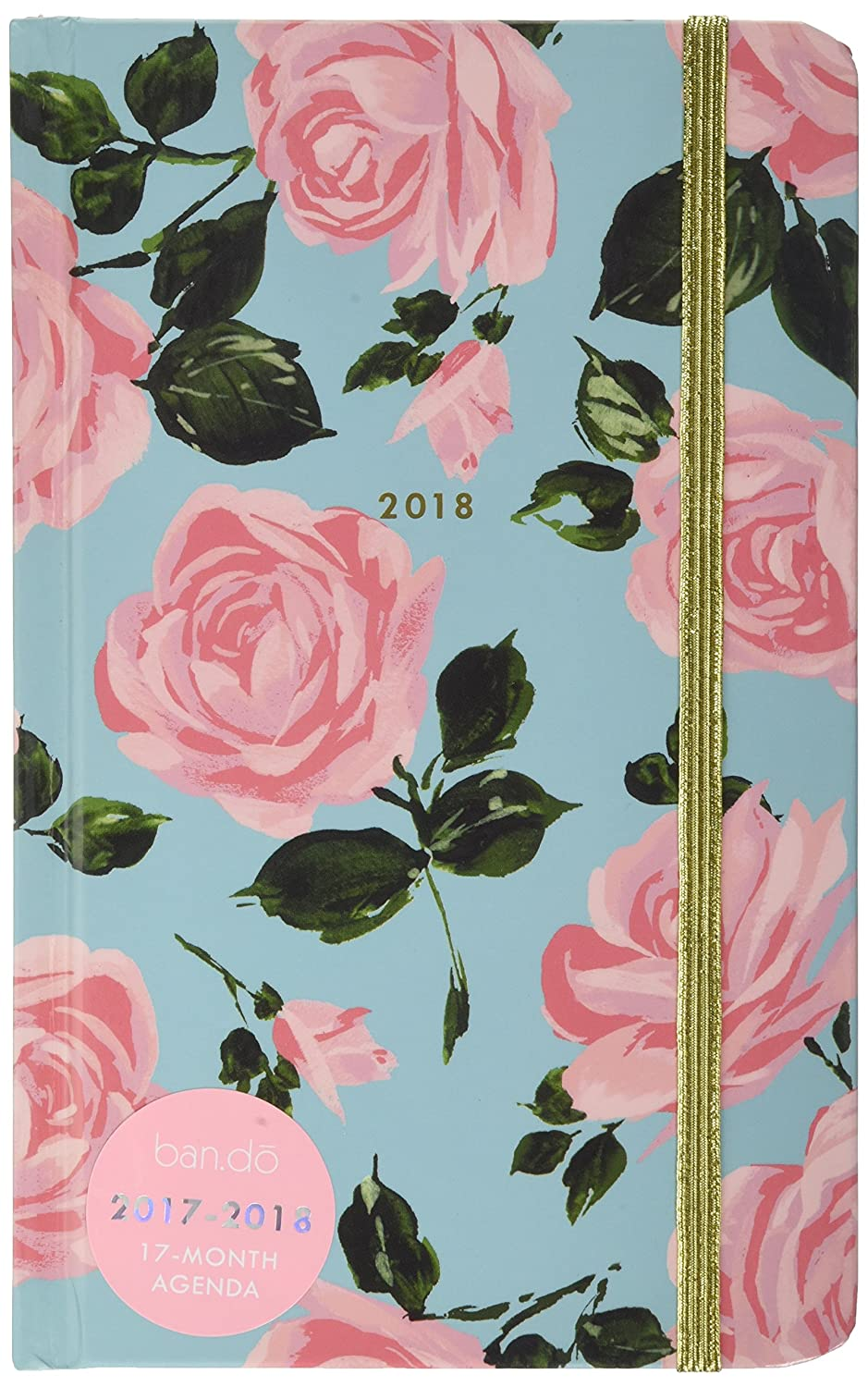 ban.do Design 17 Month Agenda 2017-18 Academic Calender, Rose Parade, 5.125