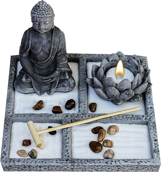 "Meditating Buddha with Lotus Candle Holder ~7.5/"" High"
